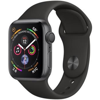 Apple Watch Series 4 40mm vesmírně šedý hliník s černým sportovním řemínkem ROZBALENO