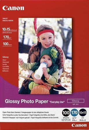 Canon GP-501S Glossy Photo Paper 10x15cm, 100 listů, lesklý