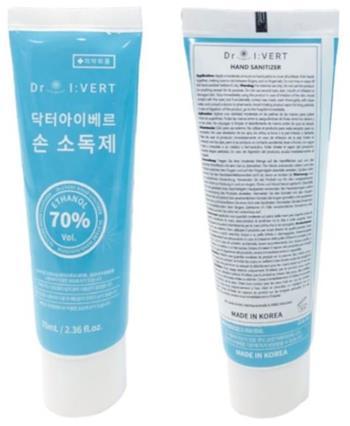 Dr. I:VERT Dezinfekční gel na ruce 70ml (Ethanol 70%)
