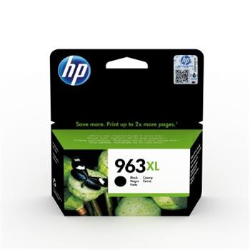 HP 963XL High Yield Black Original Ink Cartridge, 3JA30AE