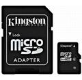 Kingston Micro SDHC karta 8GB Class 4 + adaptér