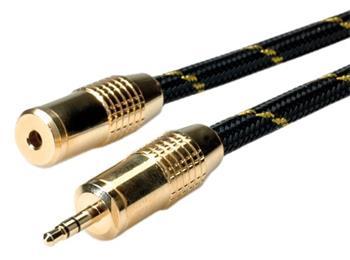 Roline Gold kabel prodlužovací jack 3,5M - jack3,5F, 2,5m